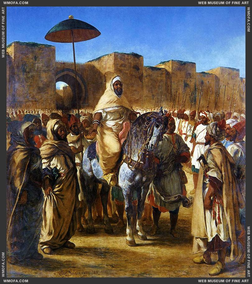 The Sultan of Morocco and his Entourage 1845 by Delacroix, Eugene
