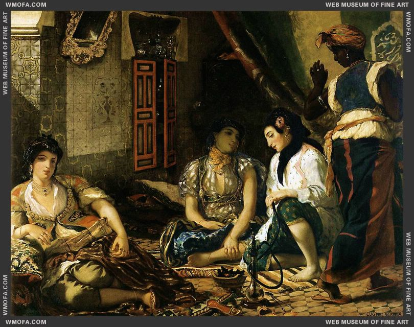 The Women of Algiers 1834 by Delacroix, Eugene