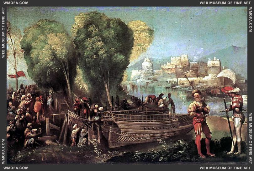Aeneas and Achates on the Libyan Coast c1520 by Dossi, Dosso