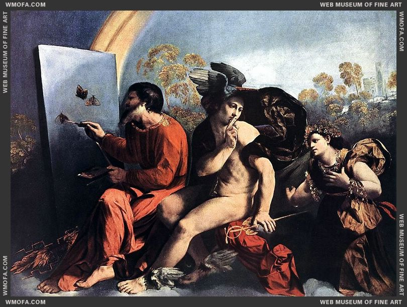 Jupiter Mercury and the Virtue 1515-1518 by Dossi, Dosso