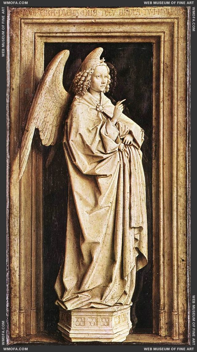 Annunciation - the Angel of the Annunciation c1436 by Eyck, Jan van