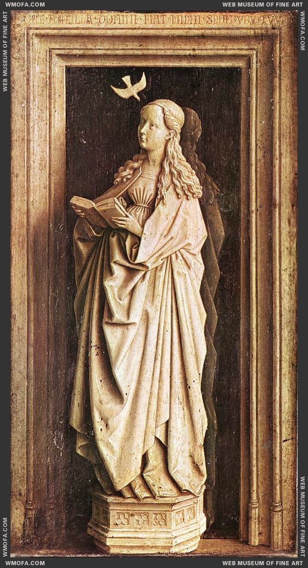 Annunciation - the Virgin Annunciate c1436 by Eyck, Jan van
