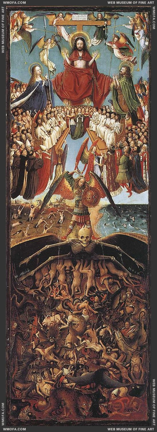Diptych - Last Judgment 1420-1425 by Eyck, Jan van