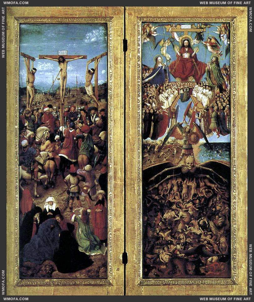 Diptych 1420-1425 by Eyck, Jan van