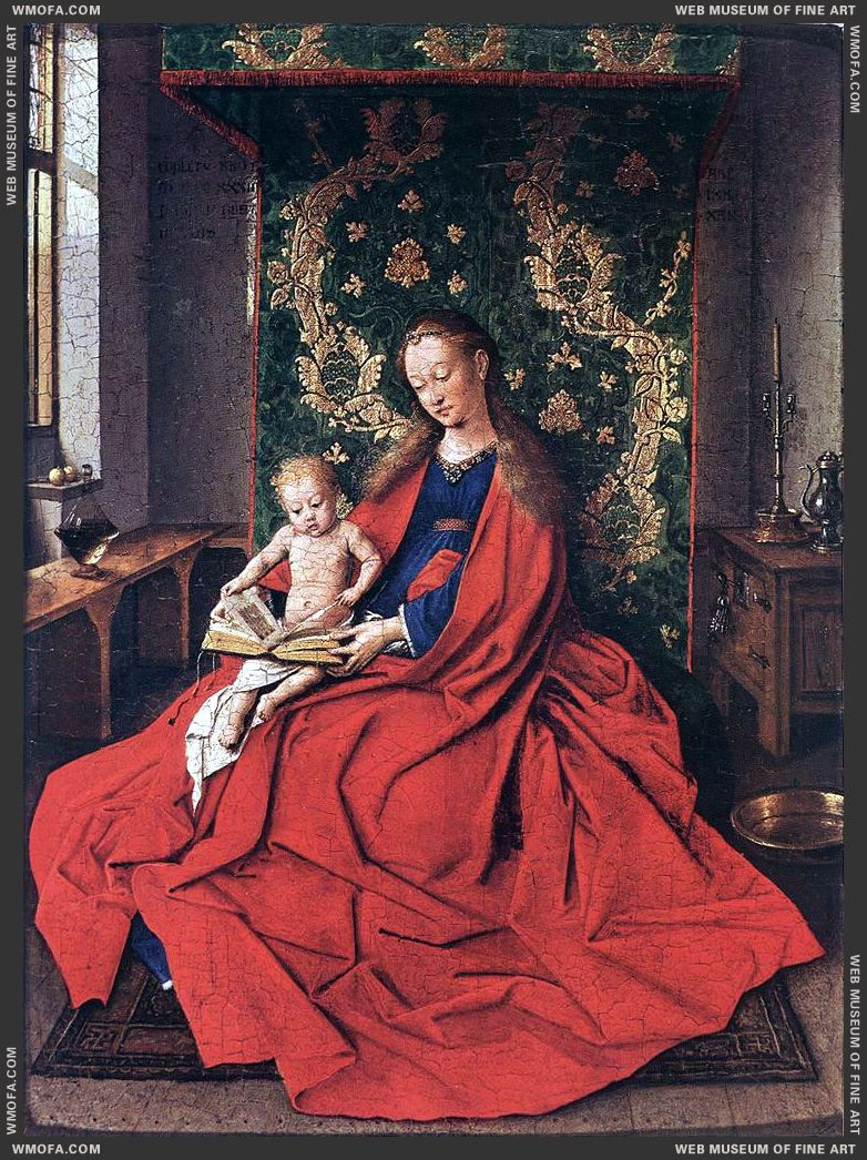 Madonna with the Child Reading 1433 by Eyck, Jan van