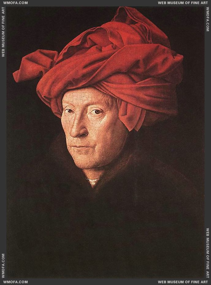 Man in a Turban 1433 by Eyck, Jan van