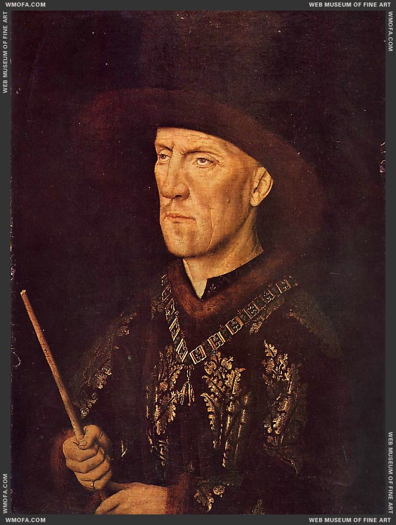 Portrait of Baudouin de Lannoy c1435 by Eyck, Jan van