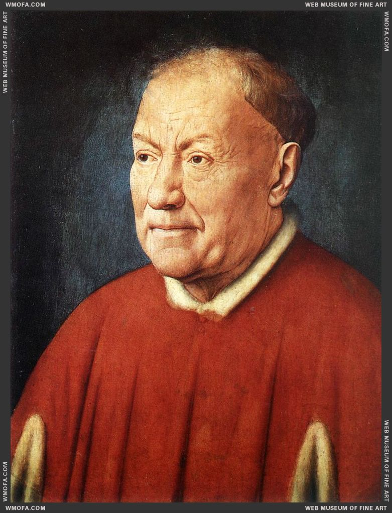 Portrait of Cardinal Niccolo Albergati 1431-1432 by Eyck, Jan van