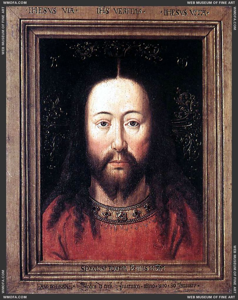 Portrait of Christ 1440 by Eyck, Jan van