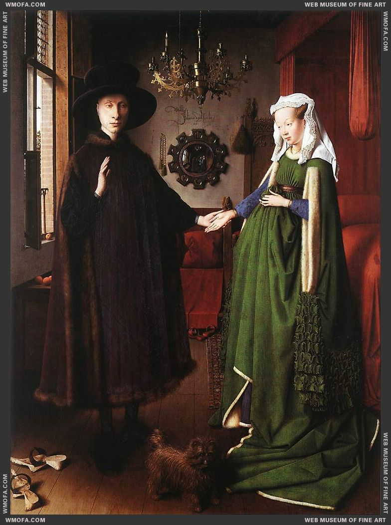 Portrait of Giovanni Arnolfini and his Wife 1434 by Eyck, Jan van