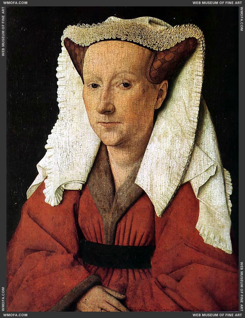 Portrait of Margareta van Eyck - detail 1439 by Eyck, Jan van