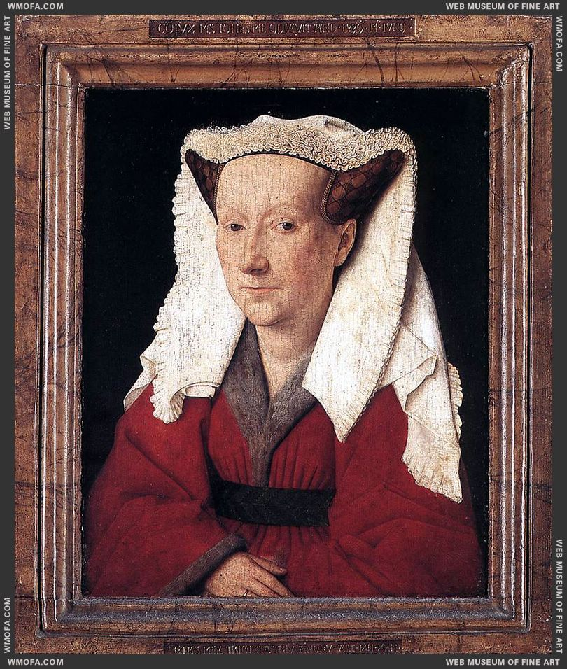 Portrait of Margareta van Eyck 1439 by Eyck, Jan van