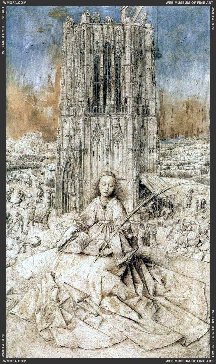 St Barbara 1437 by Eyck, Jan van