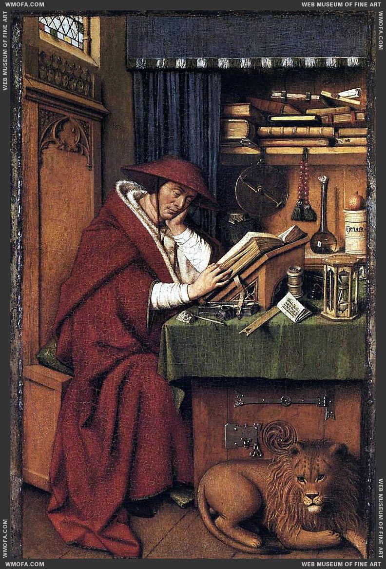 St Jerome 1442 by Eyck, Jan van