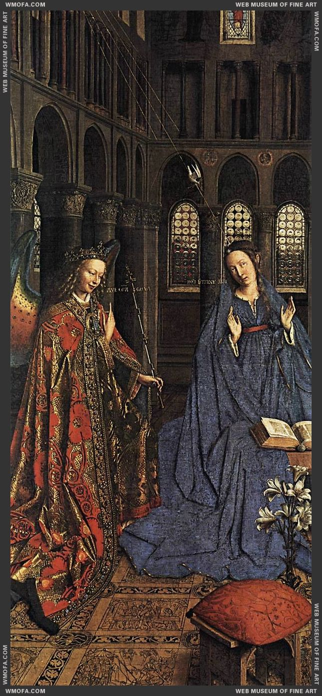 The Annunciation - detail - c1435 by Eyck, Jan van