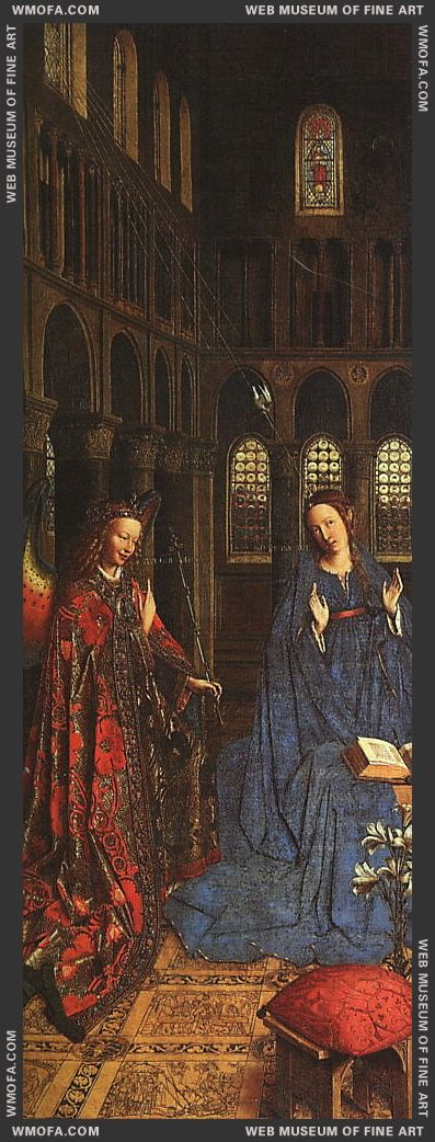 The Annunciation c1435 by Eyck, Jan van