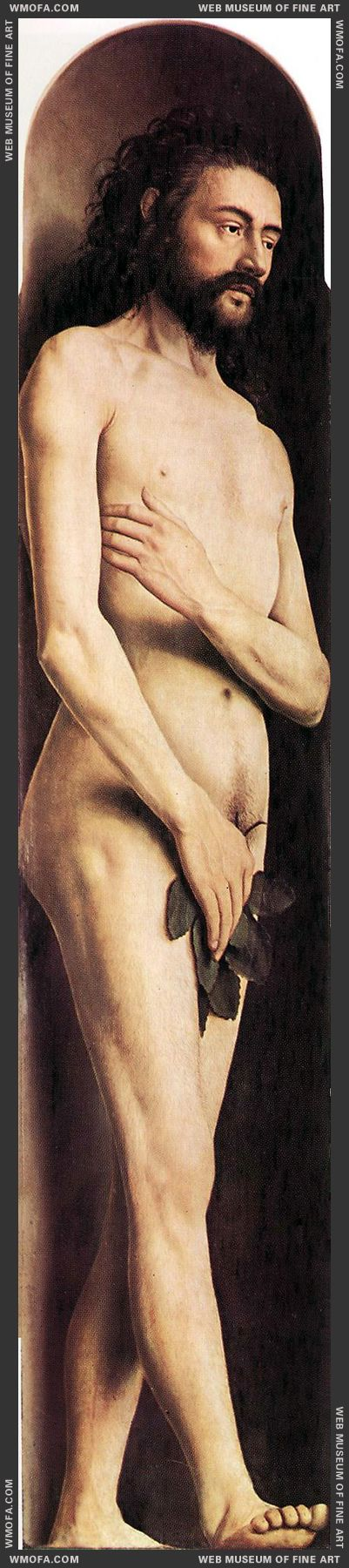 The Ghent Altarpiece - Adam 1425-1429 by Eyck, Jan van
