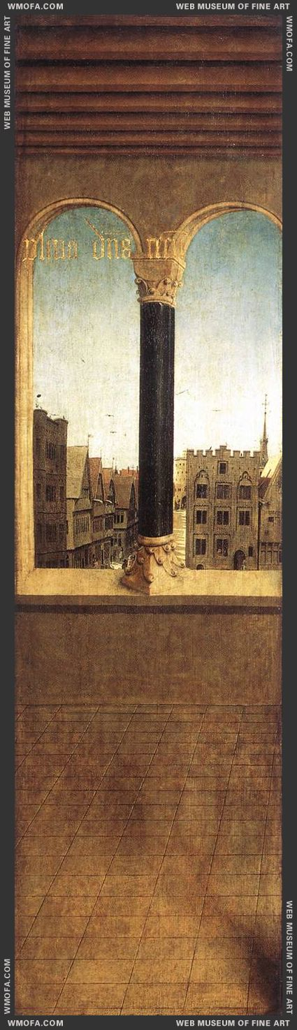 The Ghent Altarpiece - Arched Window with a View 1432 by Eyck, Jan van