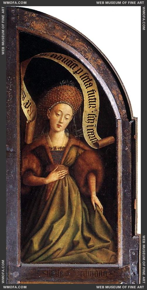 The Ghent Altarpiece - Cumaean Sibyl 1432 by Eyck, Jan van