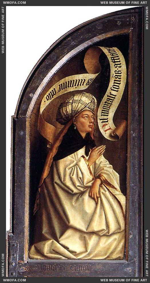 The Ghent Altarpiece - Erythraean Sibyl 1432 by Eyck, Jan van