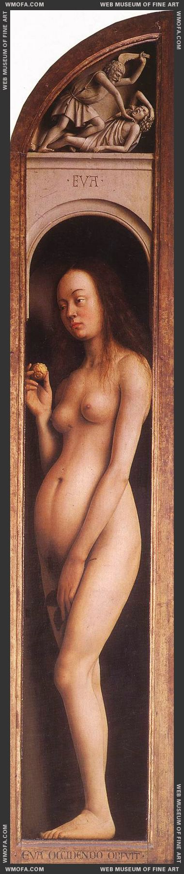 The Ghent Altarpiece - Eve The Killing of Abell 1425-1429 by Eyck, Jan van