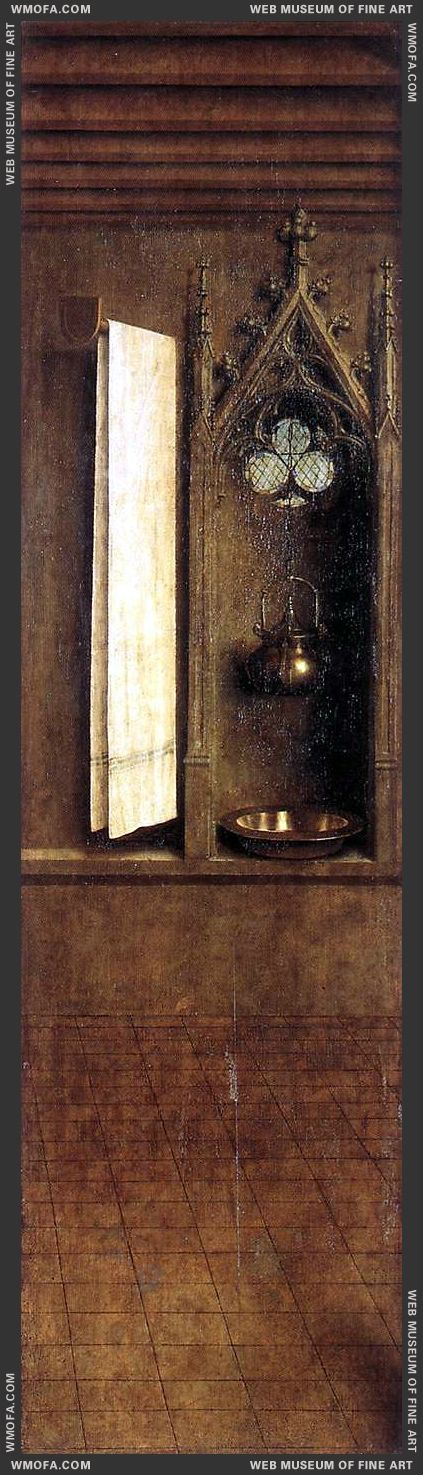 The Ghent Altarpiece - Niche with Wash Basin 1432 by Eyck, Jan van