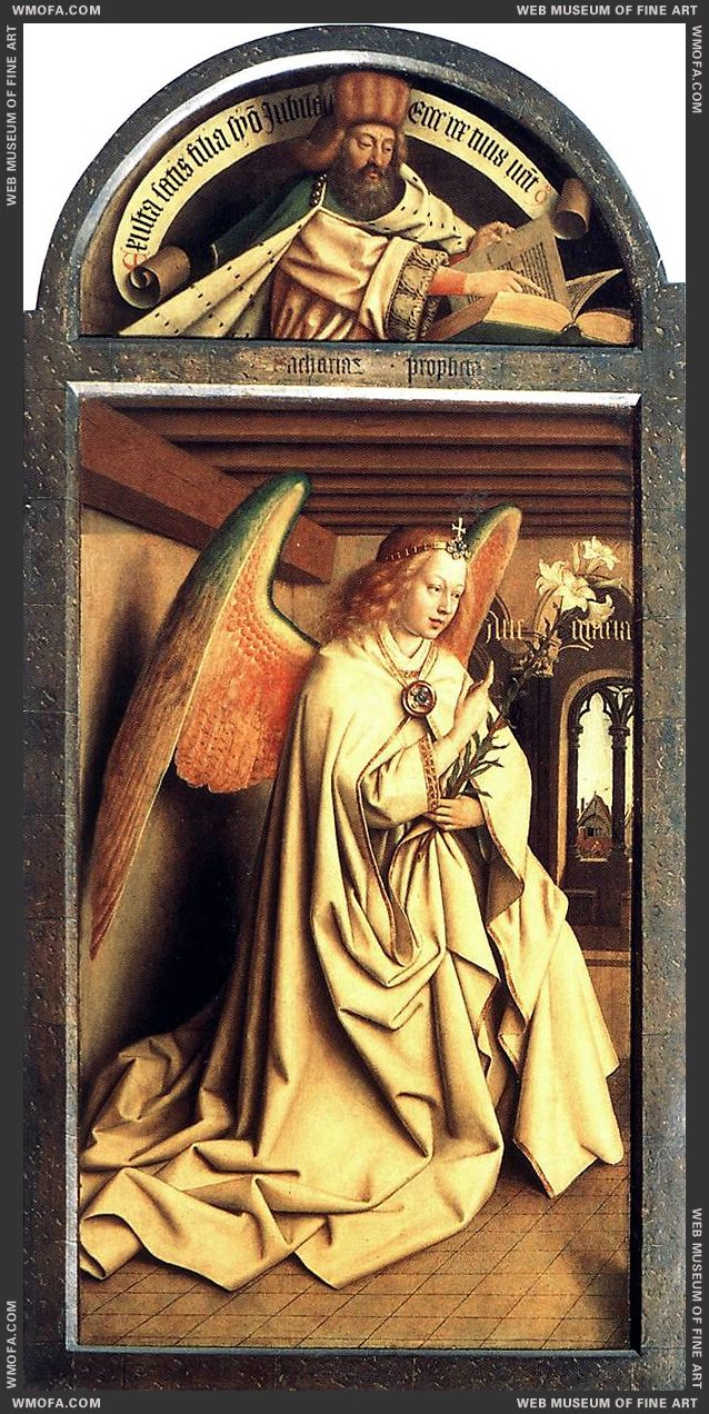 The Ghent Altarpiece - Prophet Zacharias Angel of the Annunciation 1432 by Eyck, Jan van
