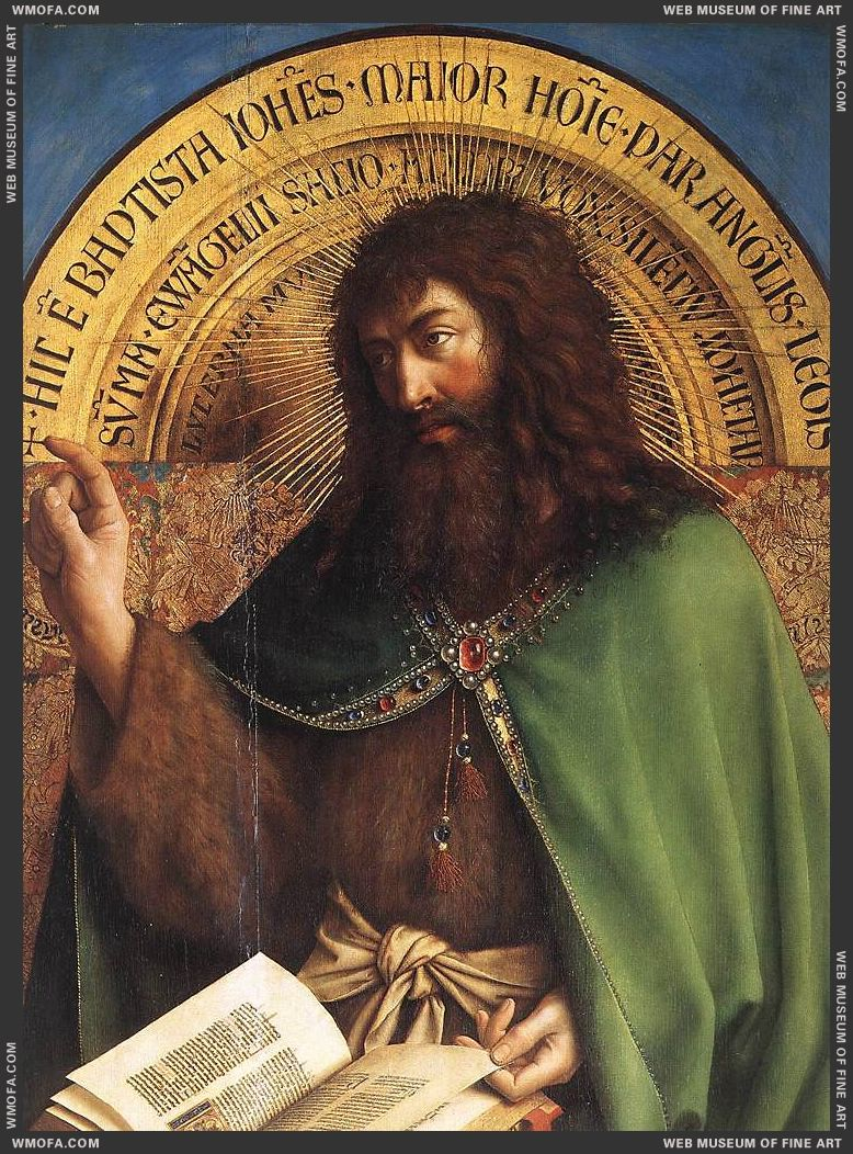 The Ghent Altarpiece - St John the Baptist - detail 1425-1429 by Eyck, Jan van