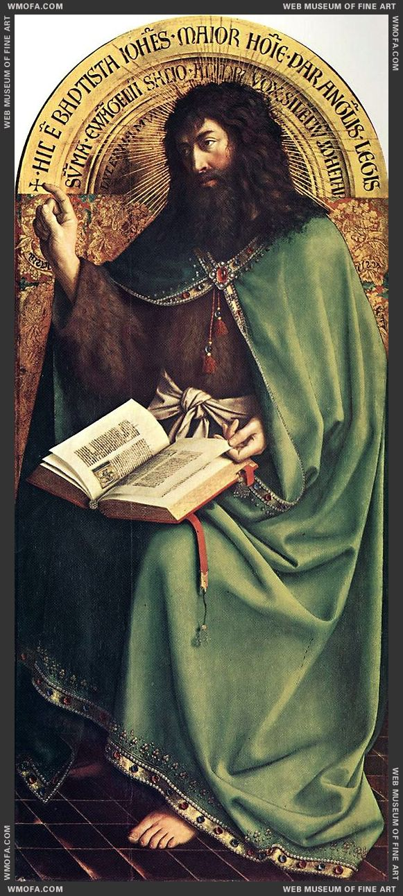 The Ghent Altarpiece - St John the Baptist 1425-1429 by Eyck, Jan van