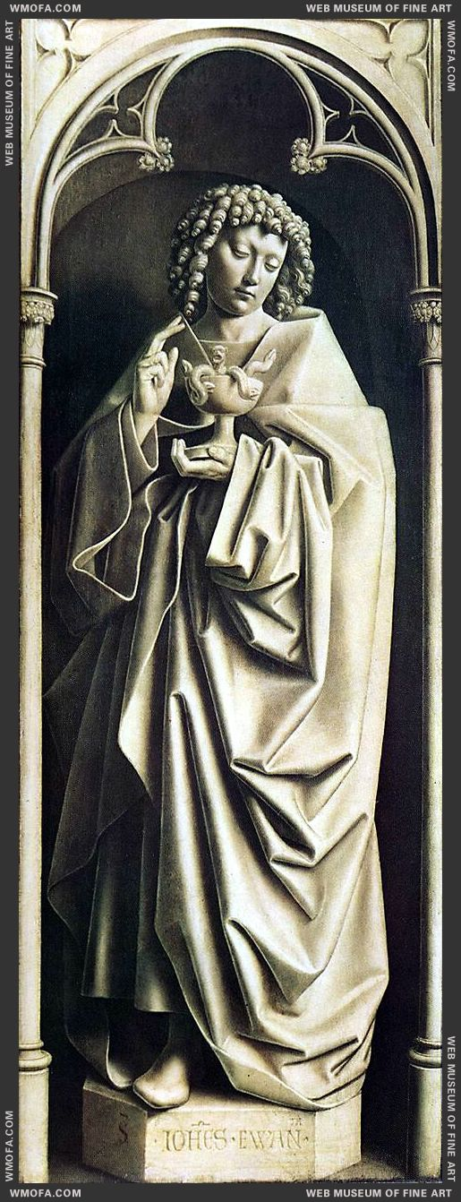 The Ghent Altarpiece - St John the Evangelist 1432 by Eyck, Jan van