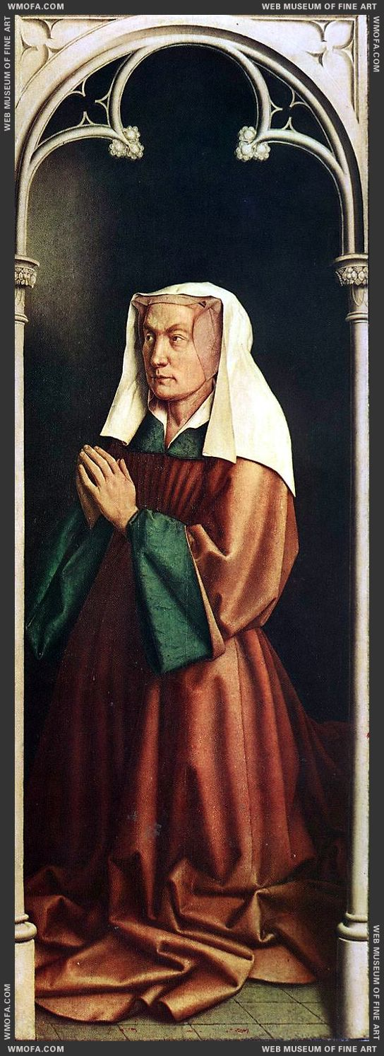 The Ghent Altarpiece - The Donors Wife 1432 by Eyck, Jan van