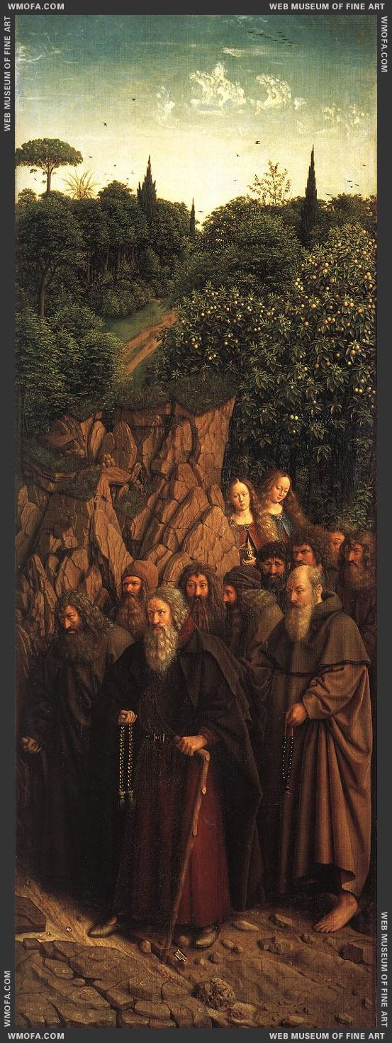 The Ghent Altarpiece - The Holy Hermits 1427-1430 by Eyck, Jan van