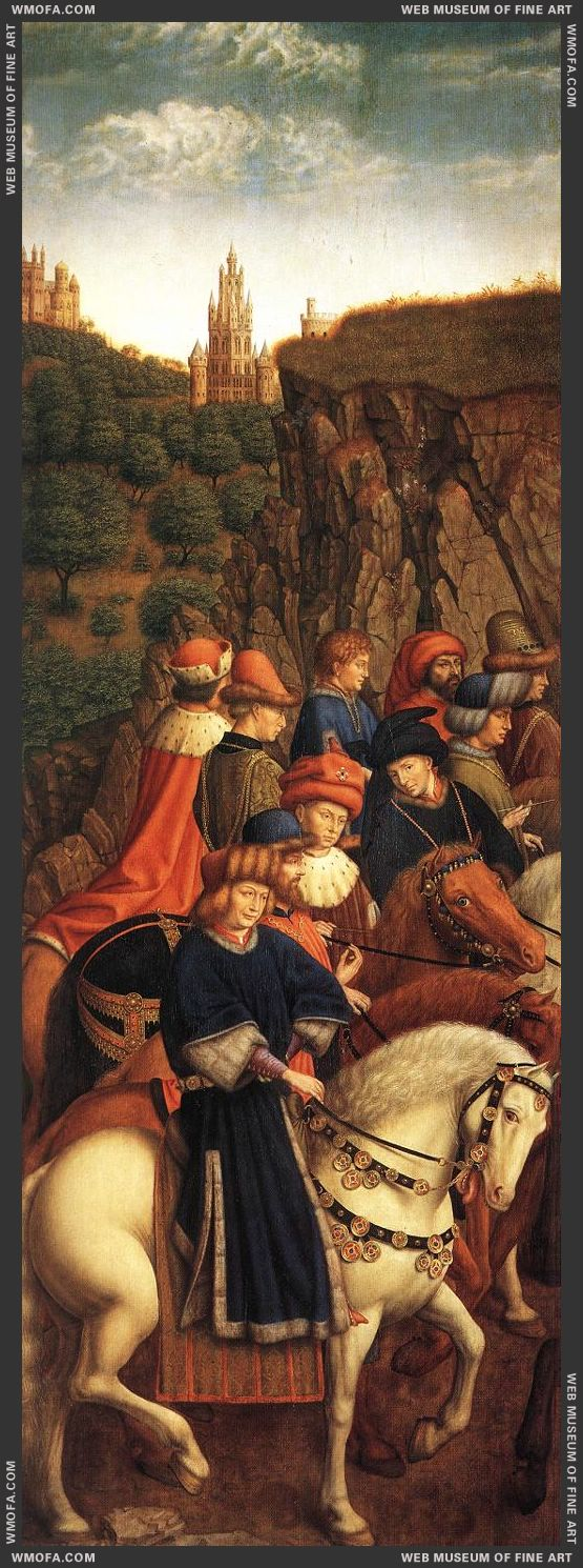 The Ghent Altarpiece - The Just Judges 1427-1430 by Eyck, Jan van