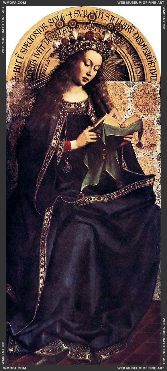 The Ghent Altarpiece - Virgin Mary 1426-1429 by Eyck, Jan van
