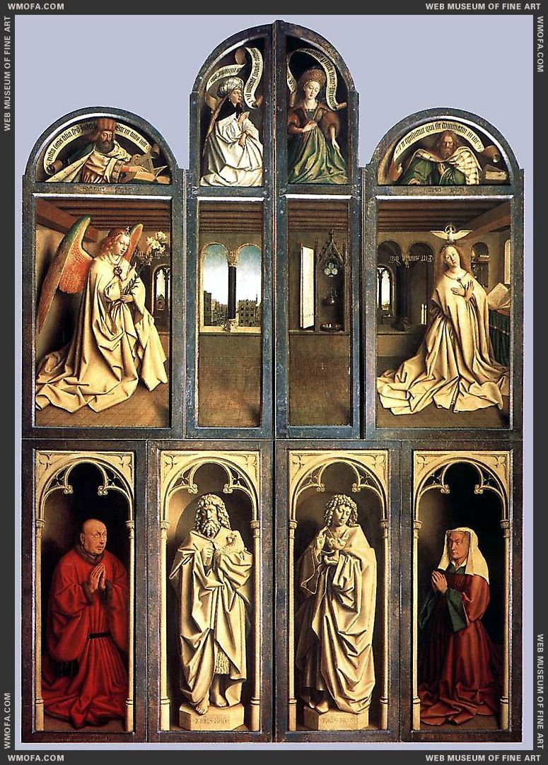 The Ghent Altarpiece - wings closed - 1432 by Eyck, Jan van