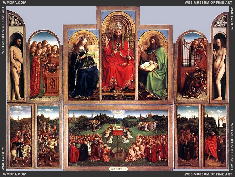 The Ghent Altarpiece - wings open - 1432 by Eyck, Jan van