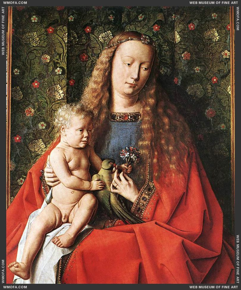 The Madonna with Canon van der Paele - detail 1436 by Eyck, Jan van