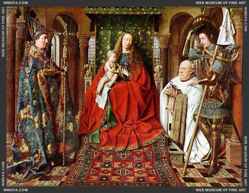 The Madonna with Canon van der Paele 1436 by Eyck, Jan van