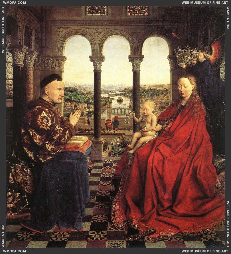 The Virgin of Chancellor Rolin 1435 by Eyck, Jan van
