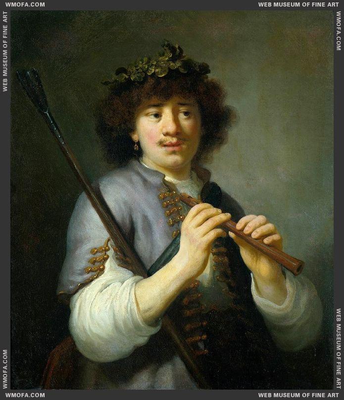 Rembrandt as a Shepherd c1636 by Flinck, Govert Teunisz
