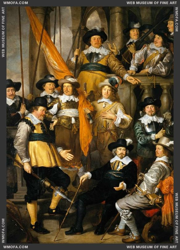 The Company of Cpt Aelbert Bas and Lt Lucas Conijn 1645 by Flinck, Govert Teunisz