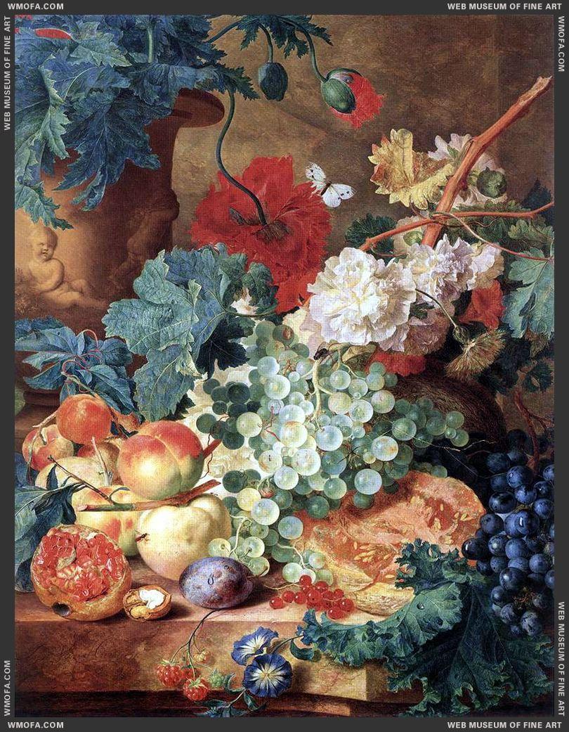 Fruit Still-life by Huysum, Jan van