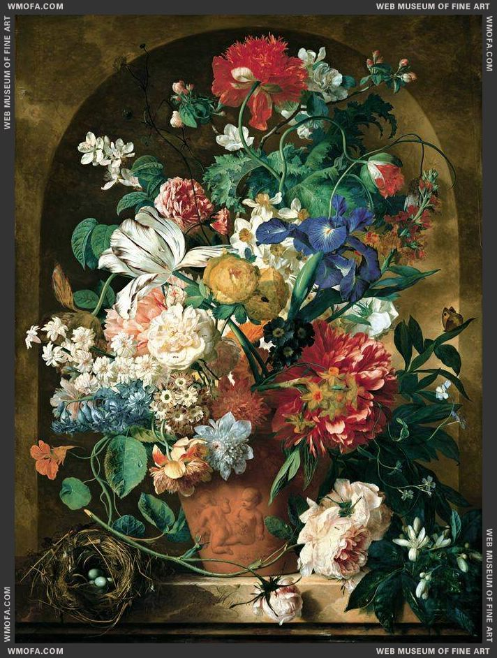 Still-life of Flowers 1734 by Huysum, Jan van