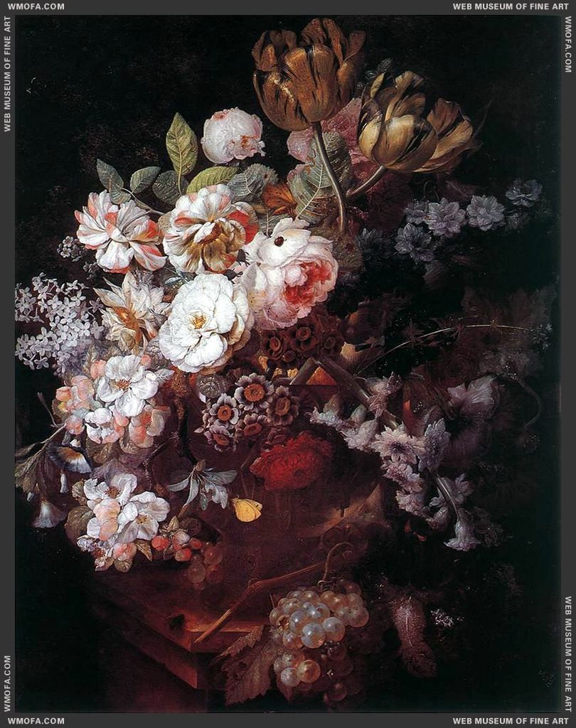 Vase of Flowers by Huysum, Jan van
