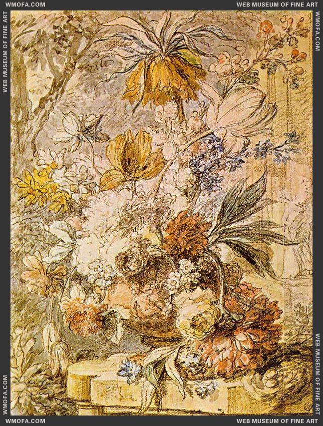 Vase with Flowers 1726 by Huysum, Jan van