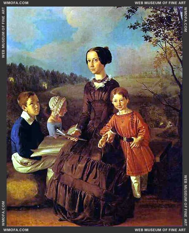 Family Portrait 1854 by Khrutsky, Ivan