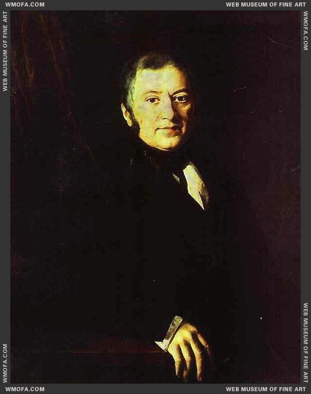 Portrait of I I Glazunov 1843 by Khrutsky, Ivan
