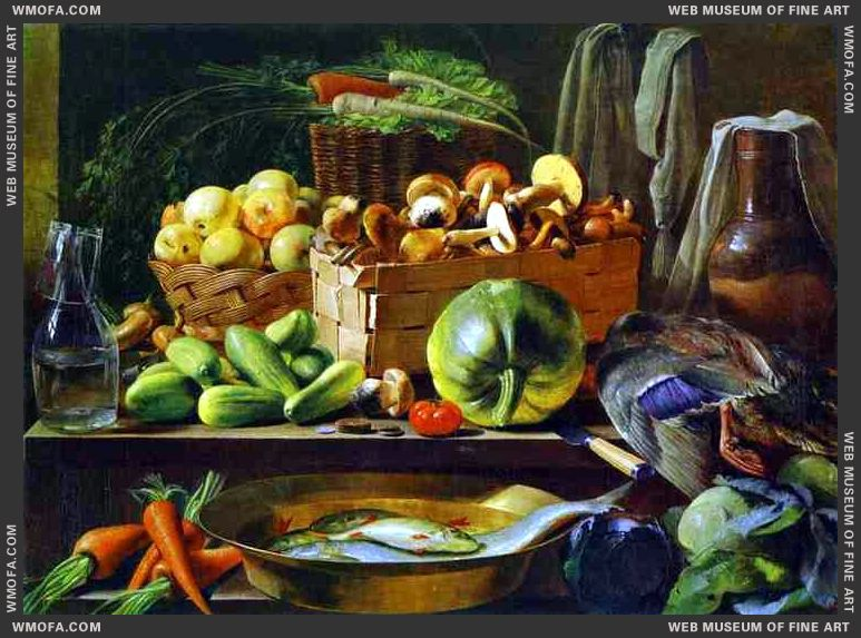 Still-Life 1839 by Khrutsky, Ivan
