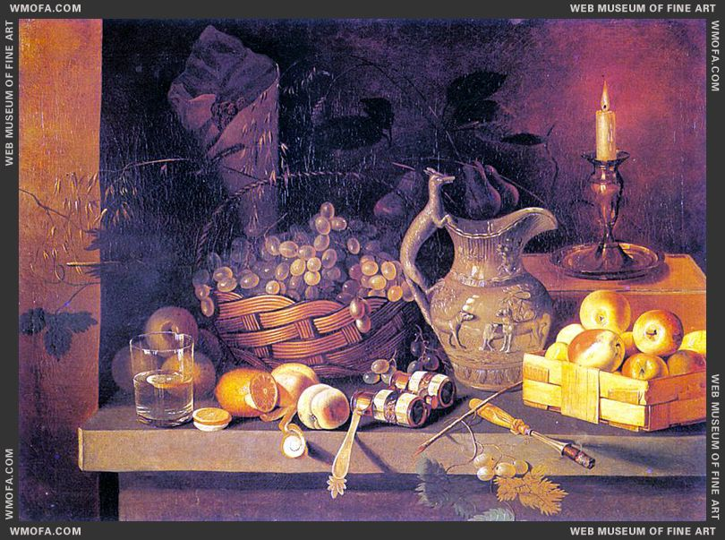 Still-Life with a Candle 1830s by Khrutsky, Ivan