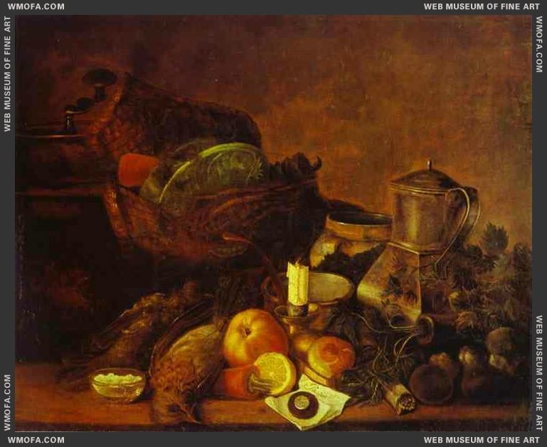 Vegetables Fruit and Dead Game 1830s by Khrutsky, Ivan